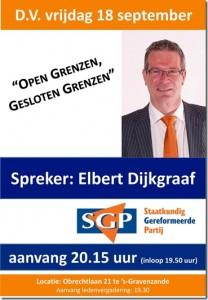 SGP avond Dijkgraaf 18-09-2015
